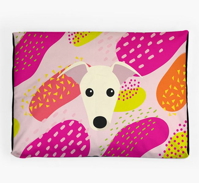 Personalised 'Abstract Design' Dog Bed for your Whippet