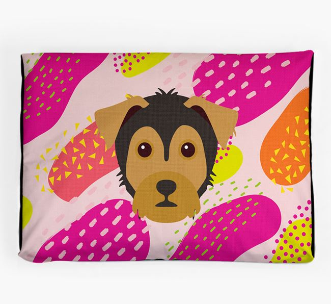 Personalised 'Abstract Design' Dog Bed for your Yorkie Russell