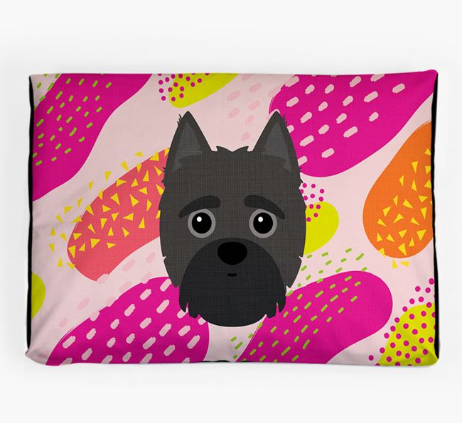Personalised 'Abstract Design' Dog Bed for your Yorkipoo