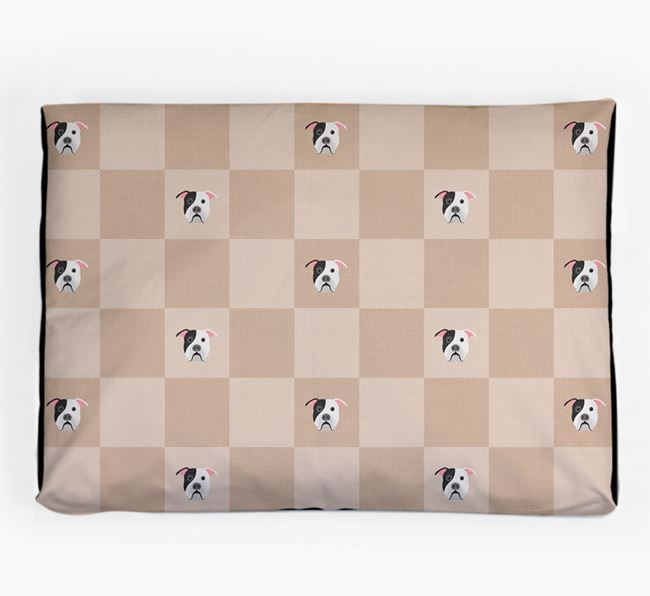 Checkerboard Icon Pattern Dog Bed for your American Bulldog