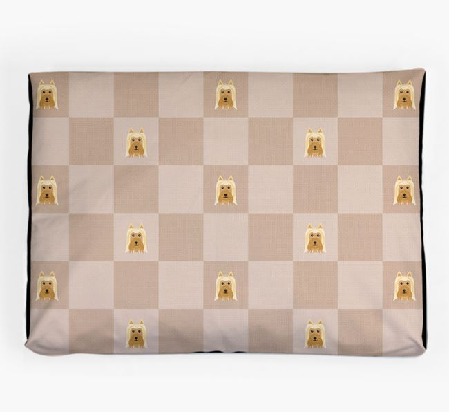 Checkerboard Icon Pattern Dog Bed for your Australian Silky Terrier