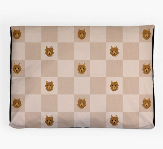 Checkerboard Icon Pattern Dog Bed for your Australian Terrier
