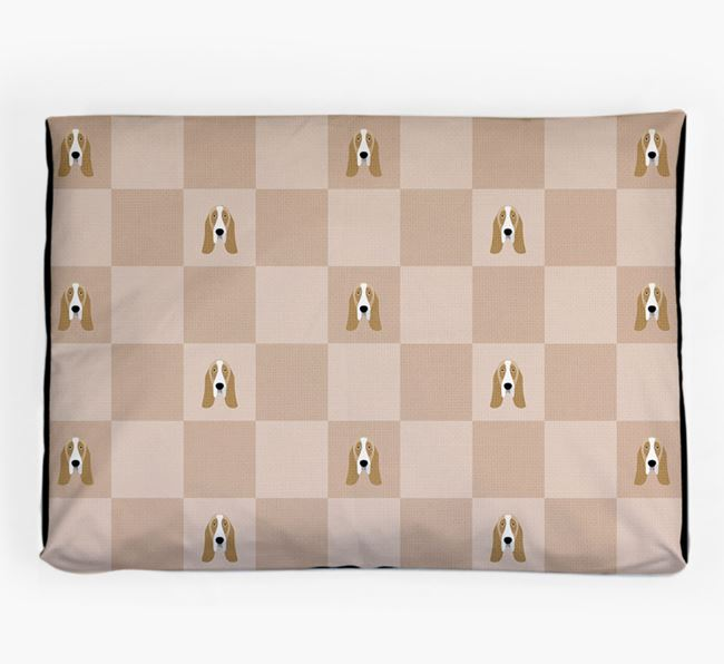Checkerboard Icon Pattern Dog Bed for your Basset Hound