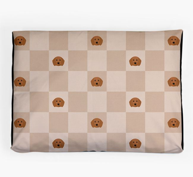 Checkerboard Icon Pattern Dog Bed for your Beaglier