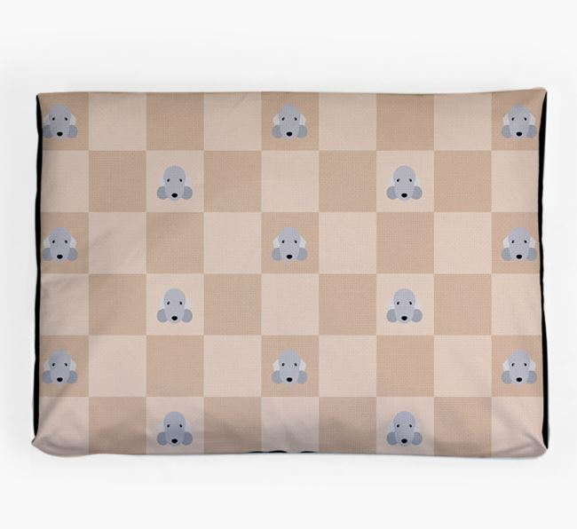 Checkerboard Icon Pattern Dog Bed for your Bedlington Terrier