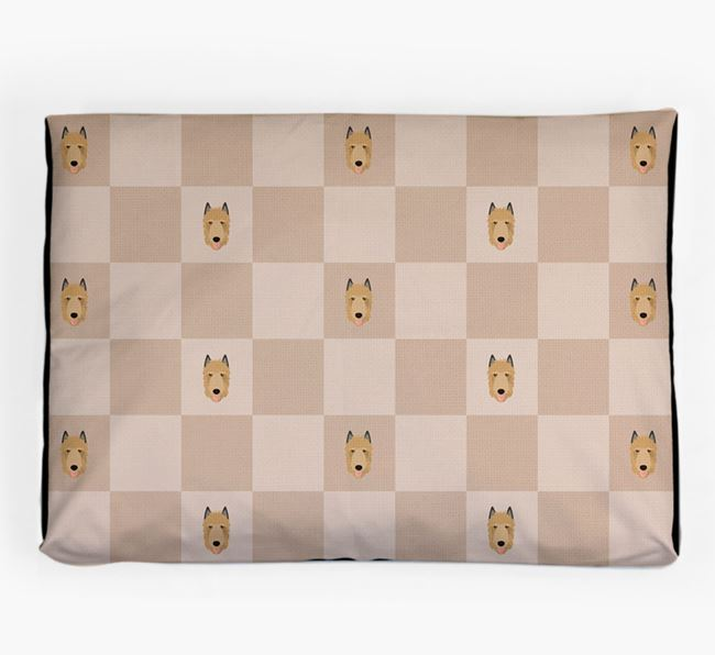 Checkerboard Icon Pattern Dog Bed for your Belgian Laekenois