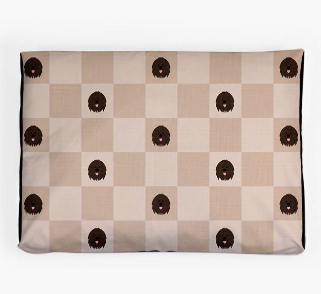 Checkerboard Icon Pattern Dog Bed for your Bergamasco