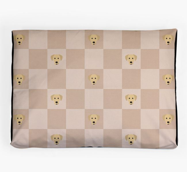 Checkerboard Icon Pattern Dog Bed for your Blue Lacy