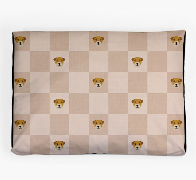 Checkerboard Icon Pattern Dog Bed for your Border Terrier
