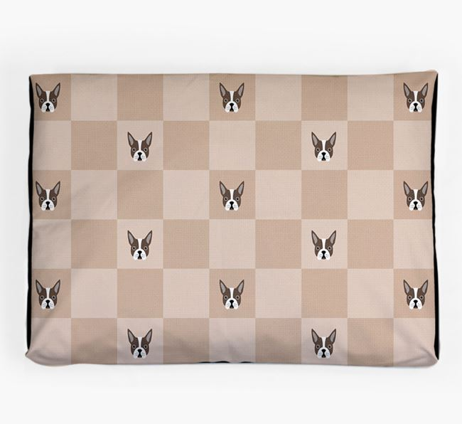 Checkerboard Icon Pattern Dog Bed for your Boston Terrier