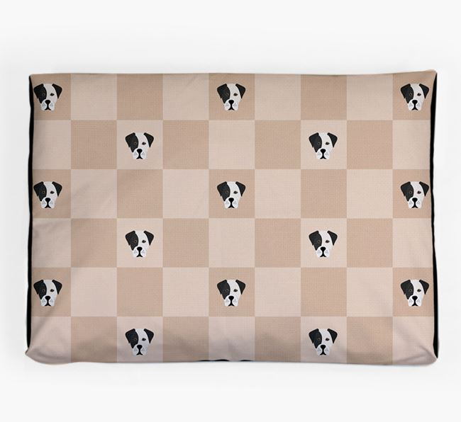 Checkerboard Icon Pattern Dog Bed for your Boxador