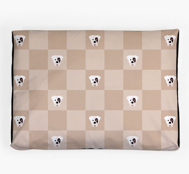 Checkerboard Icon Pattern Dog Bed for your Boxer