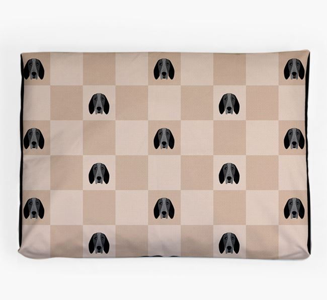 Checkerboard Icon Pattern Dog Bed for your Braque D'Auvergne