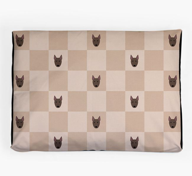 Checkerboard Icon Pattern Dog Bed for your Bull Terrier
