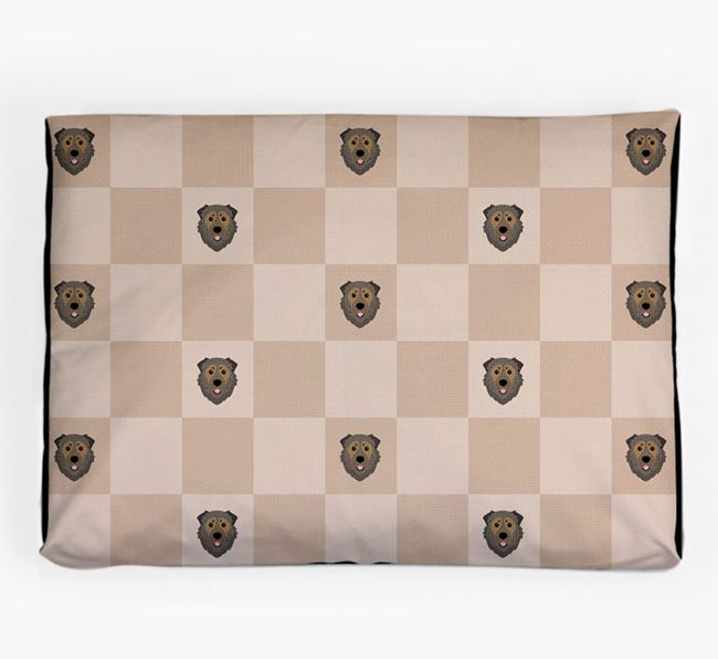 Checkerboard Icon Pattern Dog Bed for your Caucasian Shepherd Dog