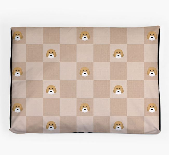 Checkerboard Icon Pattern Dog Bed for your Cavachon