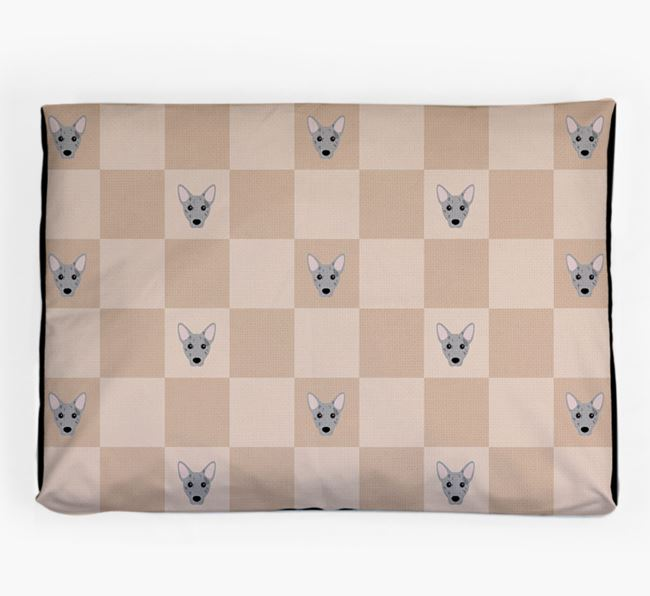 Checkerboard Icon Pattern Dog Bed for your Cojack
