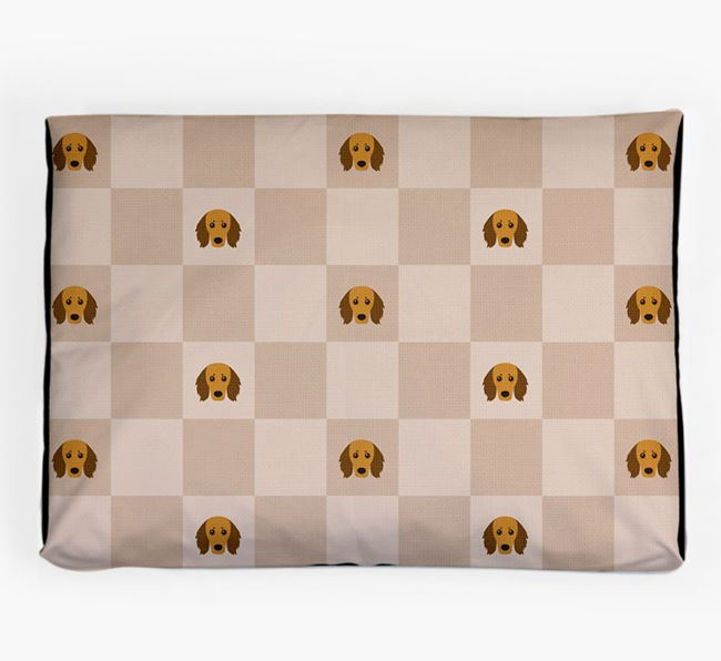 Checkerboard Icon Pattern Dog Bed for your Doxiepoo