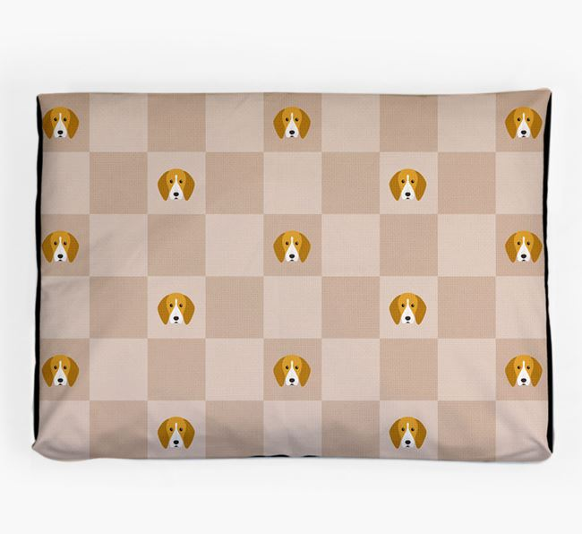 Checkerboard Icon Pattern Dog Bed for your English Coonhound