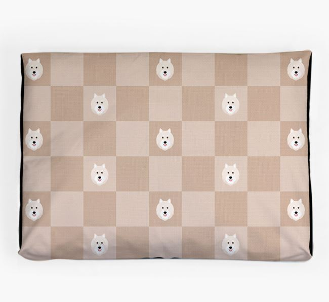 Checkerboard Icon Pattern Dog Bed for your Finnish Lapphund