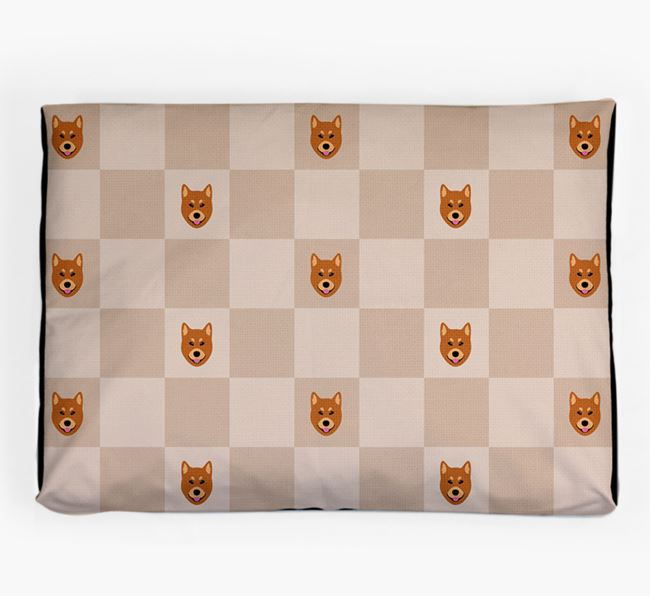 Checkerboard Icon Pattern Dog Bed for your Finnish Spitz