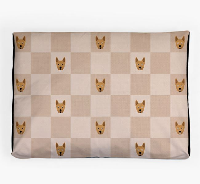 Checkerboard Icon Pattern Dog Bed for your Frenchie Staff