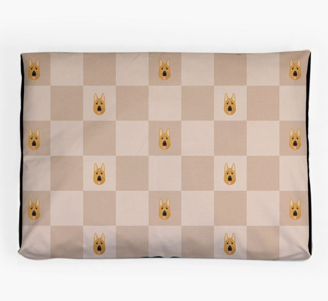 Checkerboard Icon Pattern Dog Bed for your German Shepherd
