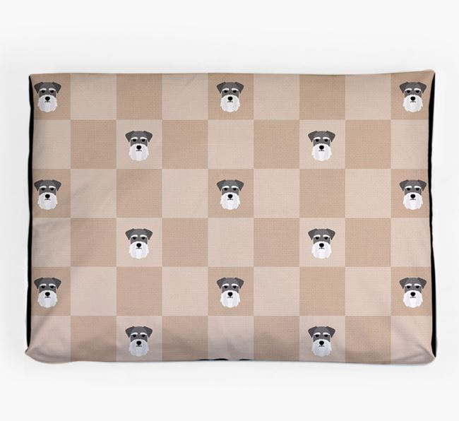 Checkerboard Icon Pattern Dog Bed for your Giant Schnauzer