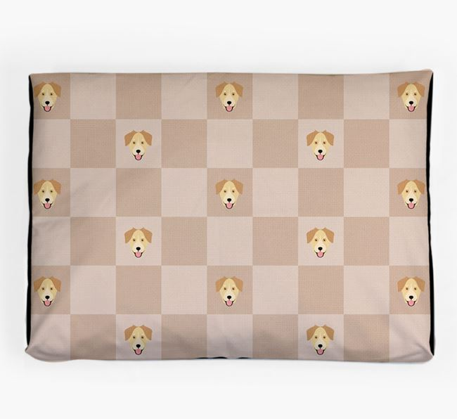 Checkerboard Icon Pattern Dog Bed for your Goberian