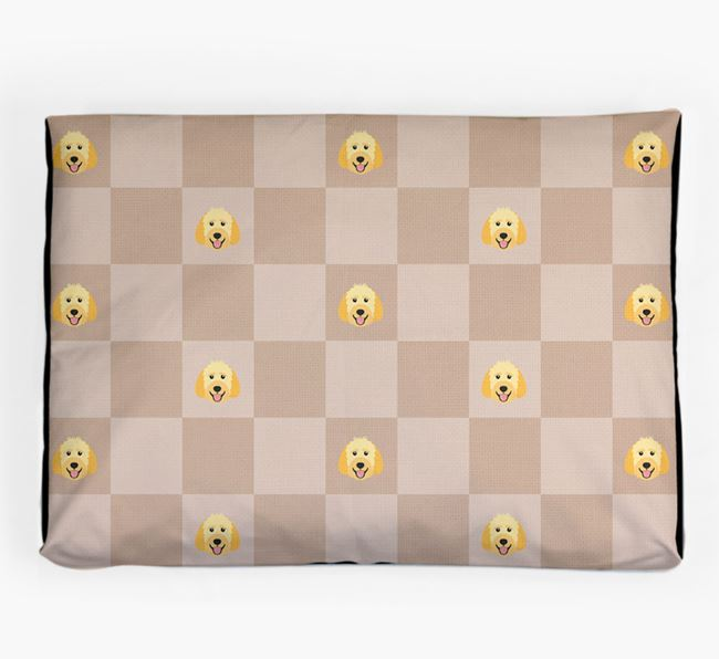 Checkerboard Icon Pattern Dog Bed for your Goldendoodle