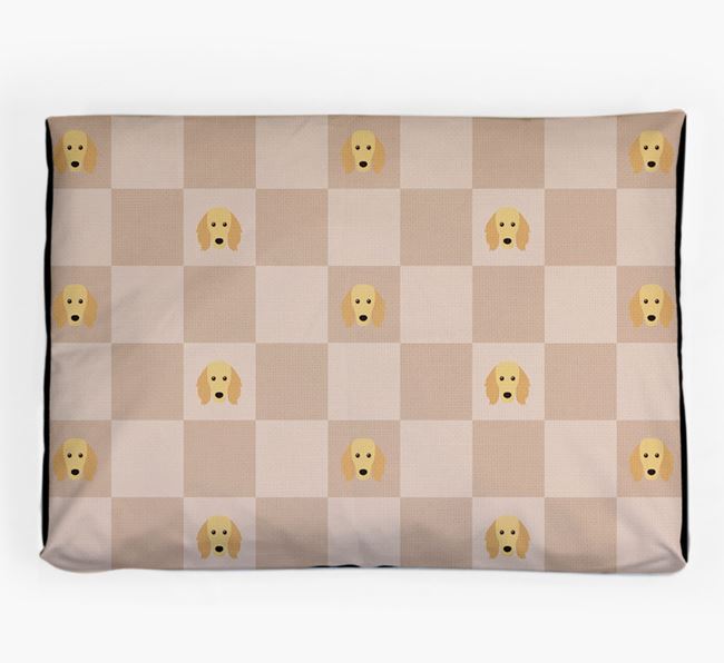 Checkerboard Icon Pattern Dog Bed for your Golden Dox