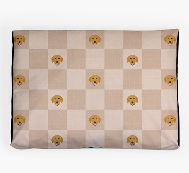 Checkerboard Icon Pattern Dog Bed for your Golden Retriever
