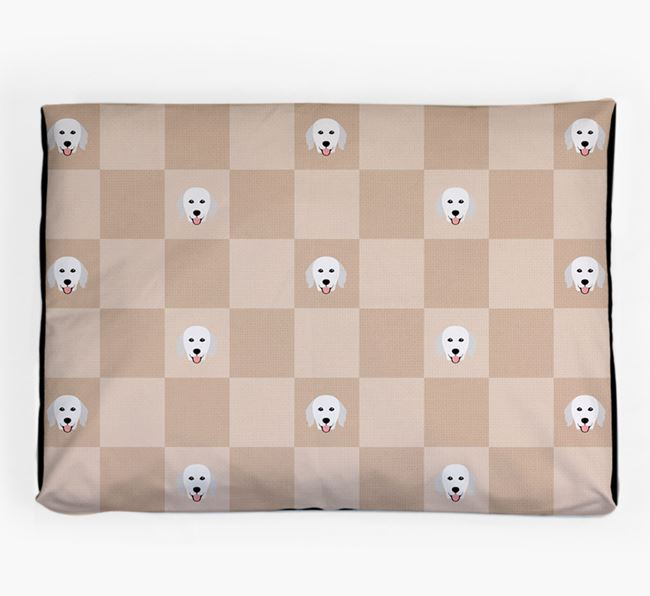 Checkerboard Icon Pattern Dog Bed for your Hungarian Kuvasz