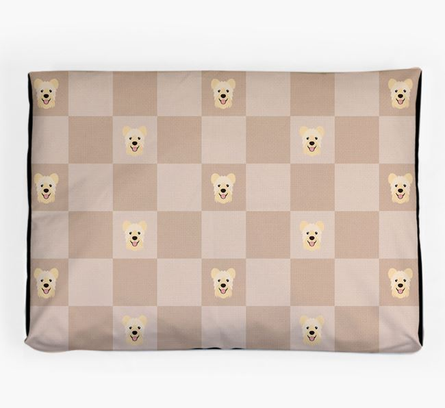 Checkerboard Icon Pattern Dog Bed for your Hungarian Pumi
