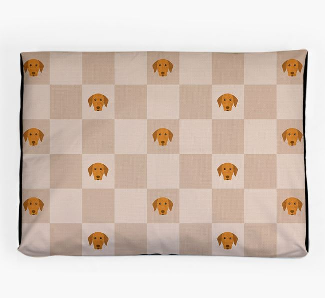 Checkerboard Icon Pattern Dog Bed for your Hungarian Vizsla