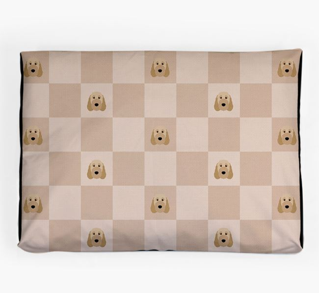 Checkerboard Icon Pattern Dog Bed for your Irish Doodle