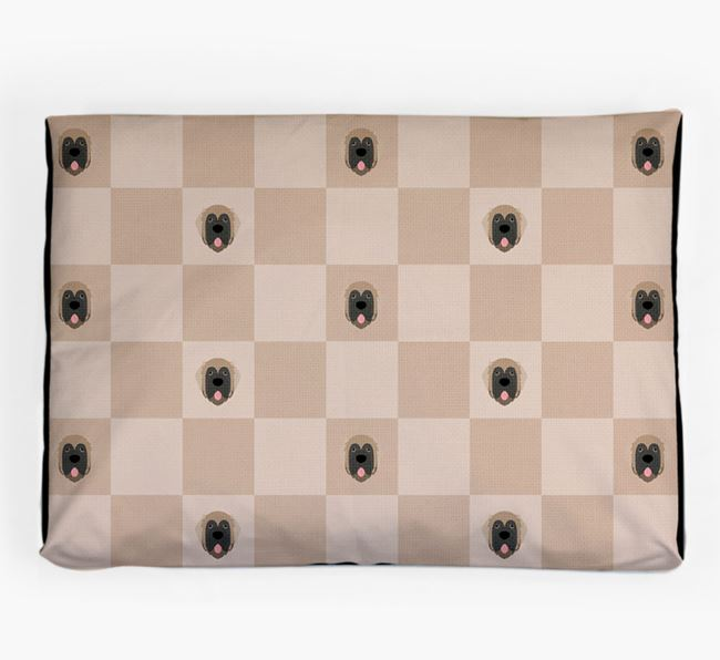 Checkerboard Icon Pattern Dog Bed for your Leonberger