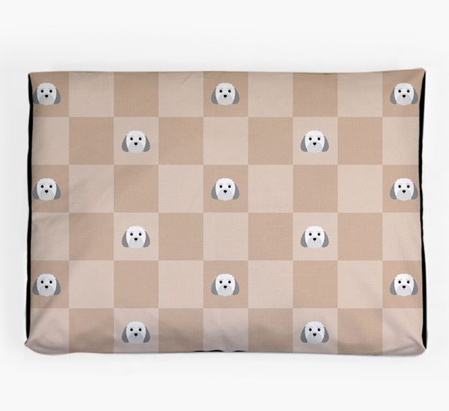 Checkerboard Icon Pattern Dog Bed for your Malti-Poo