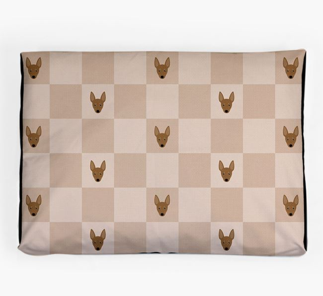 Checkerboard Icon Pattern Dog Bed for your Manchester Terrier