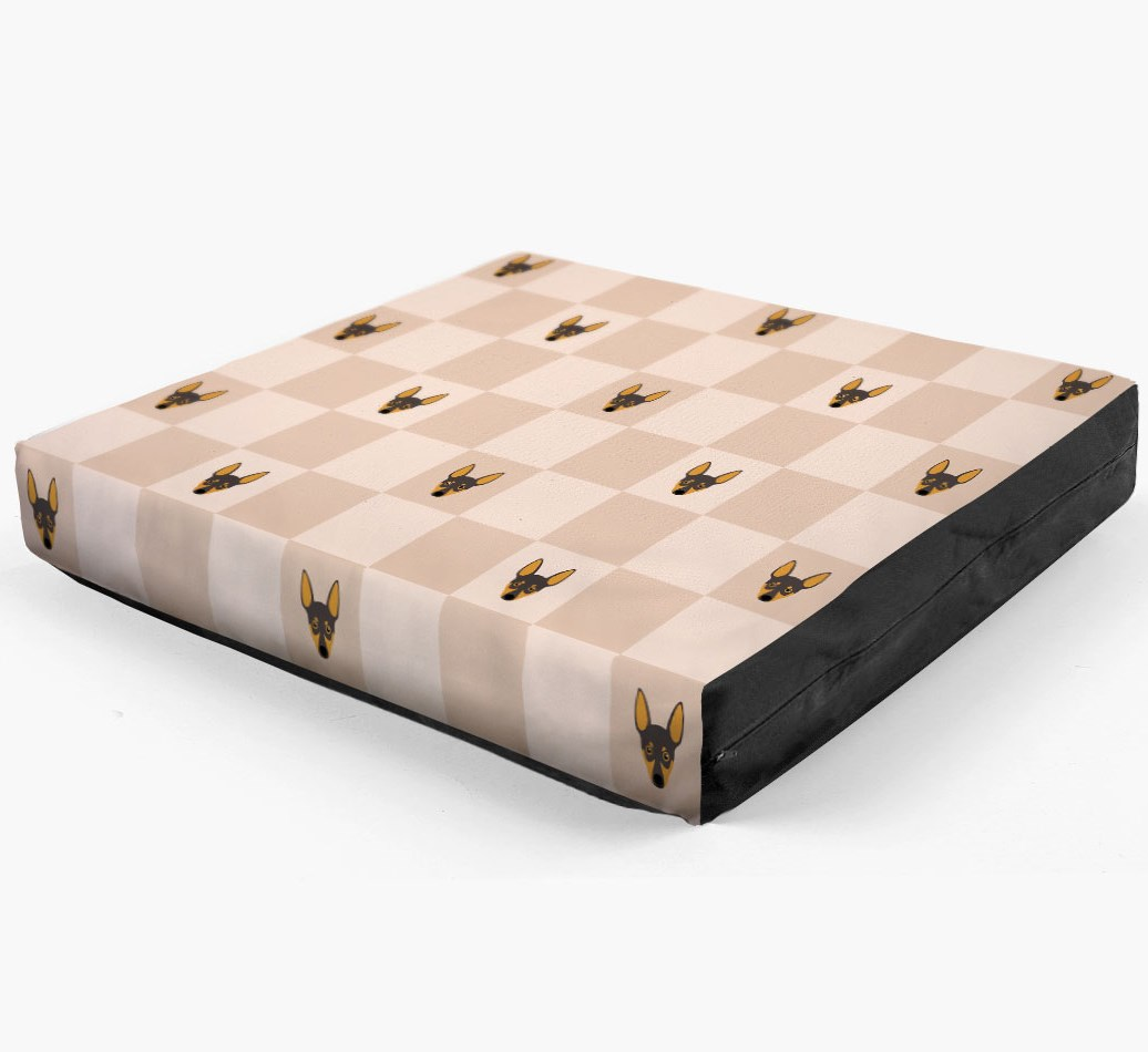 Checkerboard Icon Pattern Dog Bed for your Miniature Pinscher