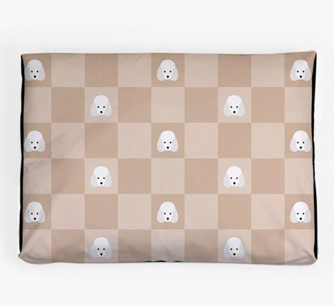 Checkerboard Icon Pattern Dog Bed for your Miniature Poodle