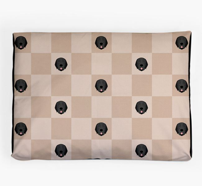 Checkerboard Icon Pattern Dog Bed for your Newfoundland