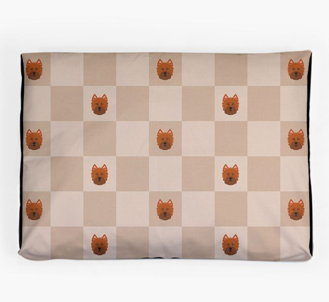 Checkerboard Icon Pattern Dog Bed for your Norfolk Terrier