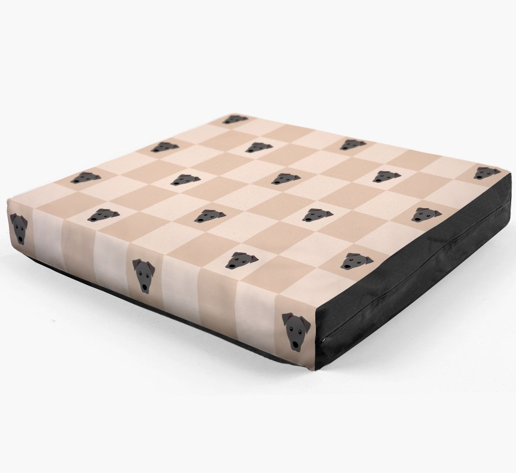 Checkerboard Icon Pattern Dog Bed for your Patterdale Terrier