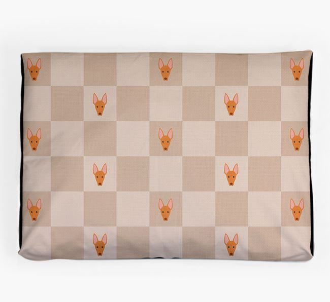 Checkerboard Icon Pattern Dog Bed for your Pharaoh Hound