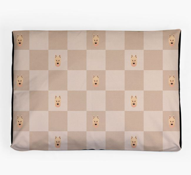 Checkerboard Icon Pattern Dog Bed for your Picardy Sheepdog