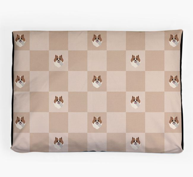 Checkerboard Icon Pattern Dog Bed for your Pomeranian