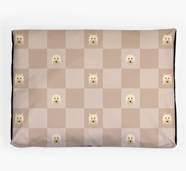 Checkerboard Icon Pattern Dog Bed for your Powderpuff Chinese Crested