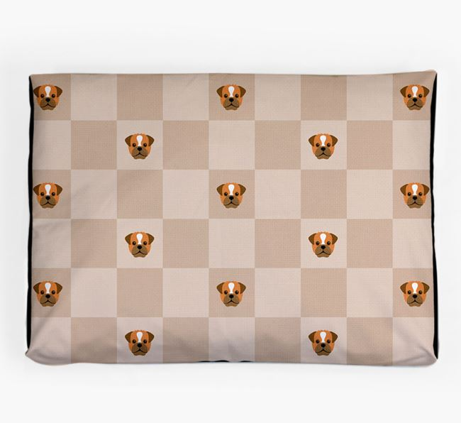 Checkerboard Icon Pattern Dog Bed for your Pugapoo