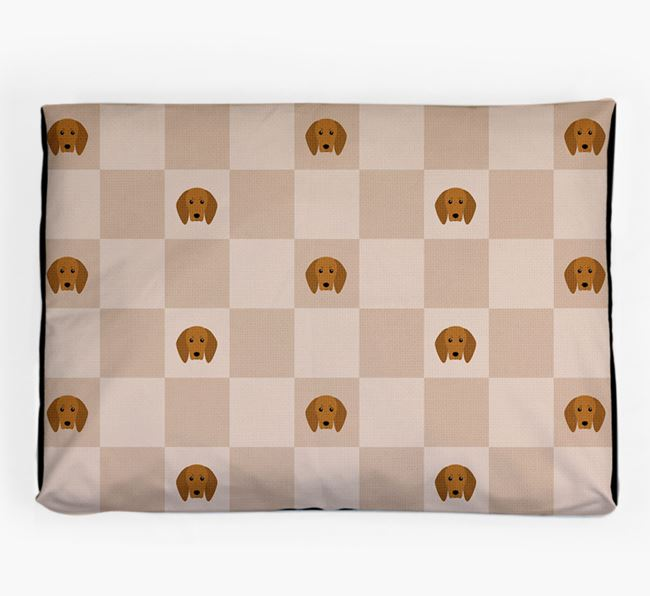 Checkerboard Icon Pattern Dog Bed for your Redbone Coonhound
